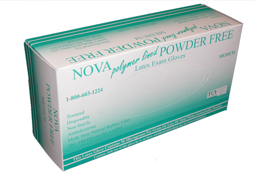 Nova Powder Free Latex Exam Gloves