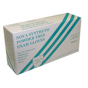 Nova Synthetic Powder Free Exam Gloves