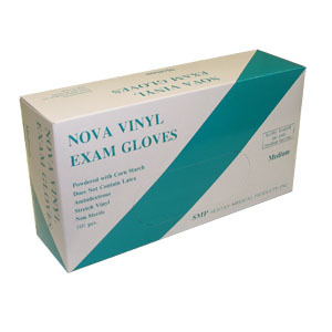 Nova Powdered Vinyl Exam Gloves